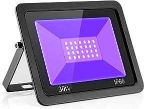 UV LED Black Lights Flood Bulbs 30W 395nm Ultraviolet Lamp IP66-Waterproof Blacklight Purple Glow In The Dark Paint Party ...