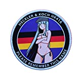 Girls' Frontline (GFL) Griffin Kryuger HK416 Special Forces bikini sexy pinup girl Hook Loop Tactics Woven Anime Airsoft Morale Patch