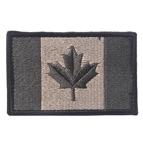 Kingnew Parche bordado bandera Canadá arce color