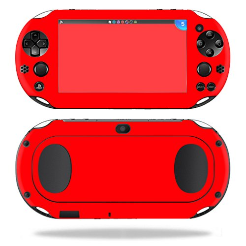 MightySkins Skin Compatible with Sony PS Vita (Wi-Fi 2nd Gen) wrap Cover Sticker Skins Solid Red