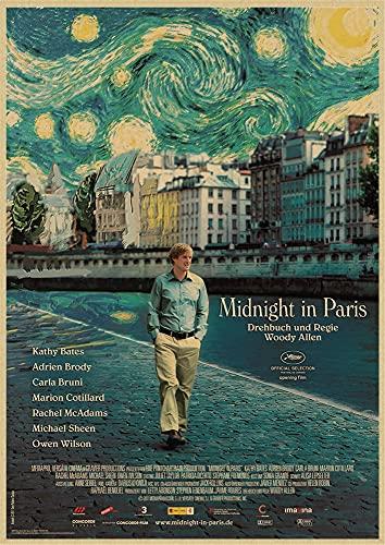 Película De Anime Woody Allen Retro Vintage Cuadro De Pintura Café Dormitorio Sala De Estar Sofá Artista De Pared Decoración del Hogar Póster De Lienzo 40X50Cm (A16195)