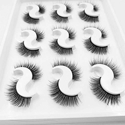 XZY Soft False Eyelashes Handmade Wispy Fluffy Long Lashes Eye Extension Makeup Kit,Brushed Chrome