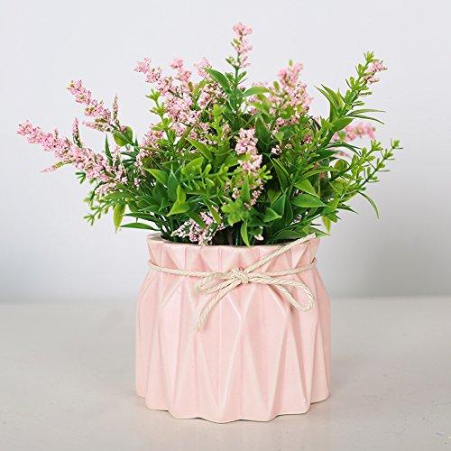 LLPXCC Faux Fleurs Accueil création florale table à manger salle de séjour simple moderne Européenne fleurs décoratives les plantes en pot fleurs en plastique orchidées rose