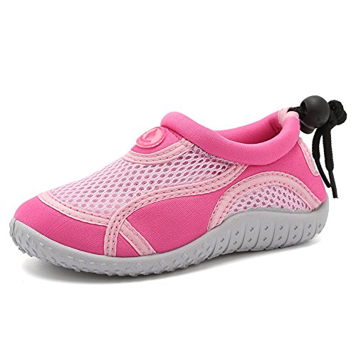 CIOR Toddler Kid Water Shoes Aqua Shoe Swimming Pool Beach Sports Quick Drying Athletic Shoes for Girls and Boys U120STHSX-Classic.pink-32
