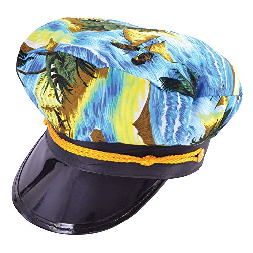 Bristol Novelty Bh609 Captain Chapeau hawaïen, taille unique