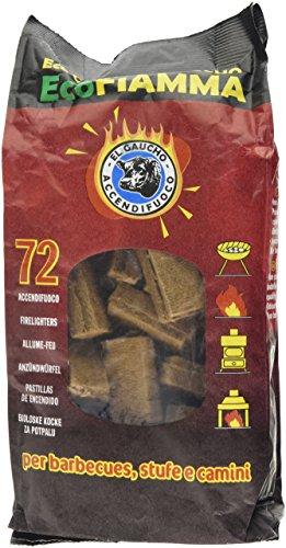 Kekai KT0560 - Pastillas de Encendido Ecológicas para Grill, Barbacoa, Estufa o Chimenea de Leña Eco Fiamma 72 pastillas