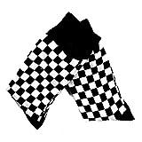 Rockabilly Check - Calcetines de cuadros, color blanco y negro