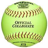 Wilson A9010 Collegiate Series Softball (12-Pack), 12-Inch, Optic Yellow