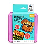 Fit & Fresh Divided Lunch Pack Carrier with Removable Ice Pack, Assorted colors