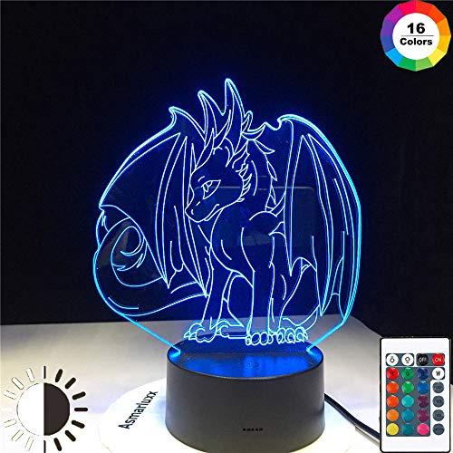KangYD 3D-Nachtlicht Beliebtes Pokemon-Spiel Eevee, LED-Illusionslampe, E - Alarm Clock Base (7 Farbe), Schreibtischlampe, Bar Dekor, Dekor Geschenk, Geburtstagsgeschenk, Halloween Geschenk