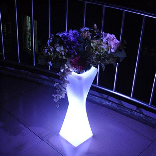 Augrous, staande lamp, modern, 16 kleuren, staande lamp met afstandsbediening, waterdicht, oplaadbaar, bloempot, lamp voor tuin, bruiloft, decoratie