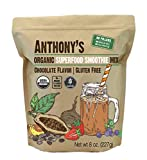 Anthony's Organic Superfood Smoothie Mix, 8oz, Chocolate Flavor, Gluten Free, Vegan, No Fillers or...