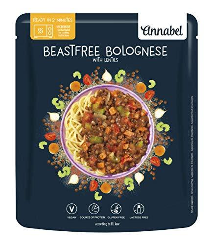 Annabel - Salsa boloñesa vegana, 6 paquetes de 500 g