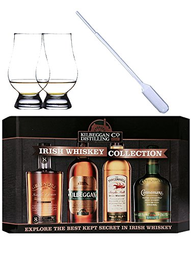 Cooley Collection neues Design Irish Whisky Mini 4 x 5cl + 2 Glencairn Gläser + 1 Pipette