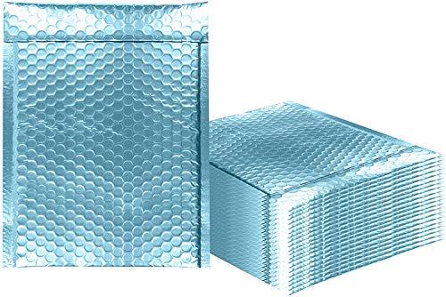 AMZ Supply Luftpolsterversandtaschen Metallic Aqua Ice Bubble Versandtaschen Glitzer-Geschenkverpackung, Versand. 9.5