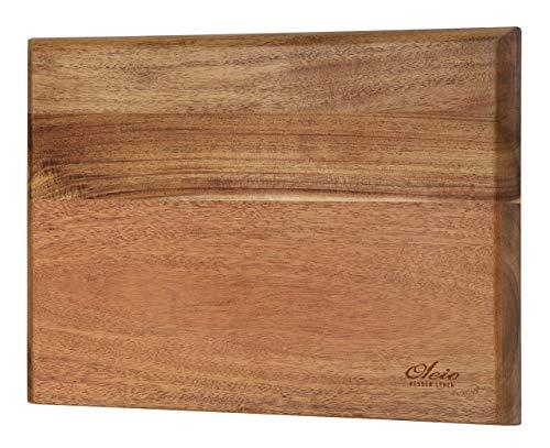 OLEIO qualitätives Magnetisches Messerbrett aus Akazienholz für die Wandmontage, ohne Messer