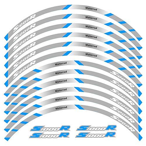 Alta calidad 12 PCS Ajustar la etiqueta de la rueda de la rueda de la rueda de la rueda de la raya del borde reflectante para S1000R (Color : 3)