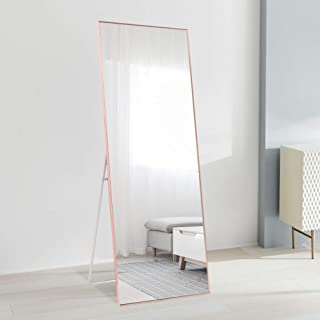 """ONXO Full Length Mirror Large Floor Mirror Standing or Wall-Mounted Mirror Dressing Mirror Frame Mirror for Living Room/Bedroom/Cloakroom (65""""X22, Rose Gold)"""