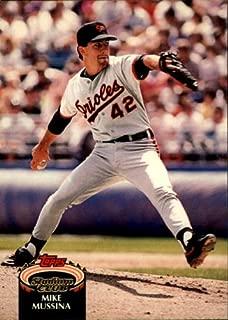 1992 Stadium Club Baseball Card #225 Mike Mussina