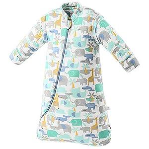 SaponinTree Saco de Dormir de Invierno para Bebé, 2,5 TOG, Saco de Dormir de algodón 100% orgánico con Manga Larga Extraíbles para Bebés de 6-18 Mes