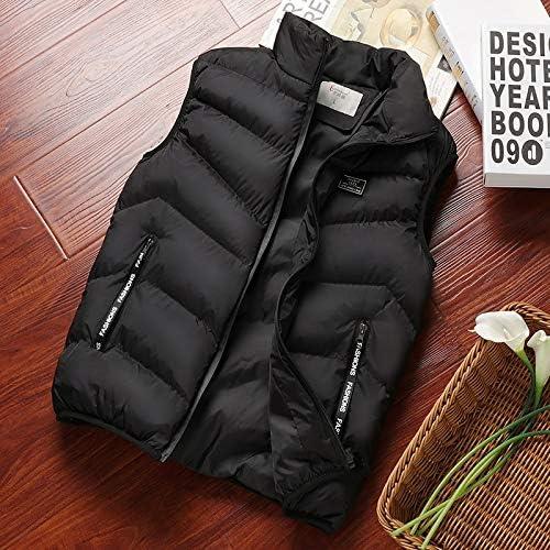 LYLY Vest Women Mens Jacket Sleeveless Vest Spring Thermal Soft Vests Casual Coats Male Cotton Men's Vest Men Thicken Waistcoat Coats Vest Warm (Color : Black 2, Size : XXL)