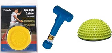 Spin Right Spinner + Power POD + Ernie Parker's Wrist Snapper Fastpitch Softball Pitching Training Aids Equipment Gear