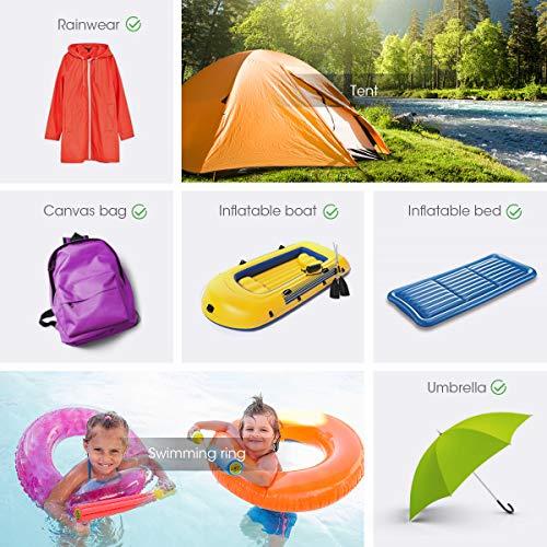 AIEVE Tent Repair Tape, 10 Pcs Waterproof Tenacious Tape, Clear Airbed Repair kit, Puncture Repair Patches for Tents, Awnings, Down Jacket, Inflatable Swimming Pools, Kayak