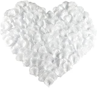MayaRed 2000 PCS 22 Colors Silk Rose Petals Wedding Flower Decoration (white)