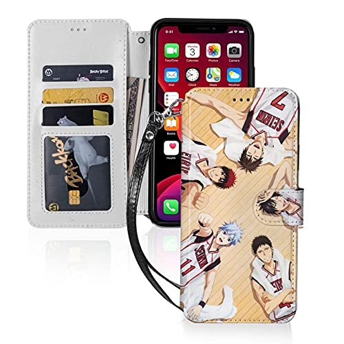 El baloncesto que Kuroko juega el iPhone 11 de la cartera con ranuras para tarjetas desmontable PU cuero Flip Cover iPhone 11 Pro-5.8