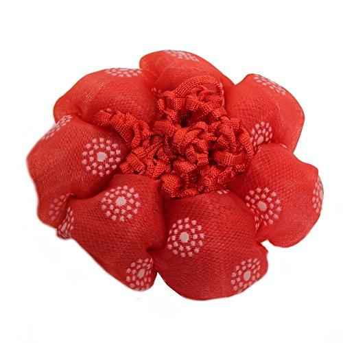 Just Fox – Chignon Filet Cheveux Cheveux Coiffure aide plastique Motif floral