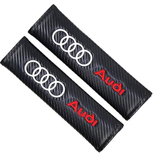 CMHZJ 2 StüCk Gurtpolster Gurtschoner Für Audi Q5 B8 TT A4L S5 A5 S6 RS7 Q7 A7,etc, Kohlefaser Autositzgurtpolster GepäCk Schulterpolster FüR EIN Komfortableres Fahren