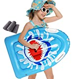 Backboards Enfants Paddle Board,PVC Gonflable Planche de Surf,Board Flottant de Surf Antidérapants,Jeunesse Débutante Natation Adulte Matériel Auxiliaire Bleu,78x56x13cm(31x22x5inch)