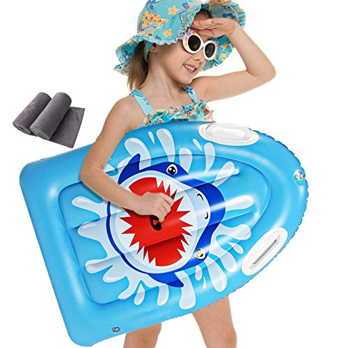 Backboards Niños Tablas Paddle,PVC Inflable Sup Tablero,Antideslizante Surf Tablero Flotante,Principiante Jóvenes Equipo Auxiliar de Natación,78x56x13cm(31x22x5inch)