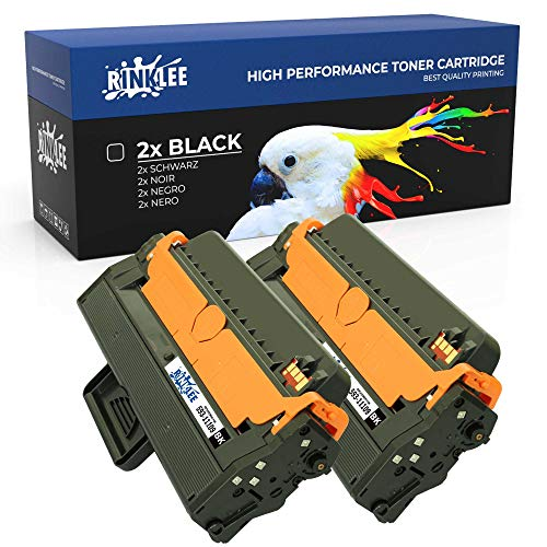 RINKLEE 593-11109 Toner Cartridge Compatible with Dell B1260dn B1265dfw B1265dnf   High Yield 2500 Pages   Black, 2-Pack