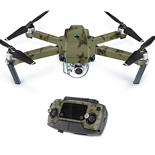 MightySkins Skin Compatible with DJI Mavic Pro Quadcopter Drone - Army Star | Protective, Durable, and Unique Vinyl Decal wrap Cover | Easy to Apply, Remove, and Change Styles | Made in The USA