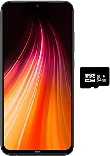 "Xiaomi Redmi Note 8 (64GB, 4GB) 6.3"" Display, Snapdragon 665, 48MP Quad Camera, Dual SIM GSM Factory Unlocked - US & Global 4G LTE International Version (Space Black, 64GB +Case Bundle)"