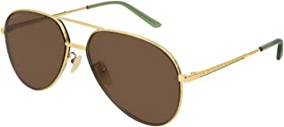 Gucci Aviator Sunglasses for Women - Brown Lens, GG0356S-002-59