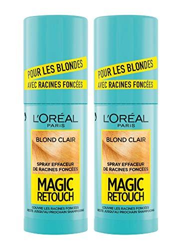 L'Oréal Paris Spray Instantané Correcteur de Racines Foncées, Magic Retouch, Blond Clair, 75 ml, Lot de 2