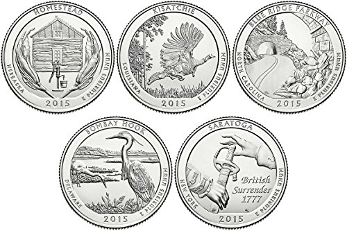 2015 P, D BU National Parks Quarters – 10 coin Set Uncirculated