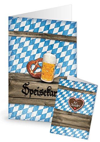 20 Stück Menükarten blau weiß kariert Bayern beschreibbar bedruckbar Speisekarten DIN A4 geklappt A5 Tischdeko Hochzeit Kommunion Taufe Geburtstag zum Oktoberfest bayerische Feste