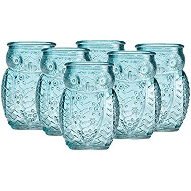 Home Essentials Blue Owl 2.8oz Shot Glass Set of 6