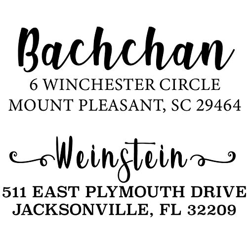 Address Stamp | Custom Address Stamp | 10+ Designs to Choose!! | Personalized | Self-Inking Return Address Mail | 3 Lines | Wedding Stamp | Custom Address Stamper | (Real Estate Gift)