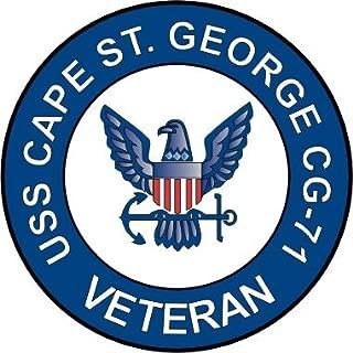 MilitaryBest US Navy USS Cape St George CG-71 Ship Veteran Decal Sticker 5.5