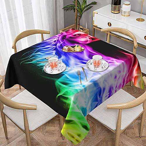 Mantel rectangular de la prenda impermeable del mantel del cuadrado de la impresión del caballo del fuego, decoración de la