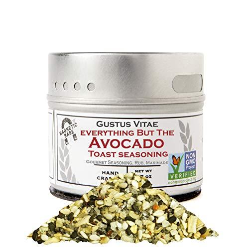 Everything But The Avocado Toast - Authentic Gourmet Spice Mix & Artisanal Seasoning - Non GMO- 1.9 oz - Small Batch - Magnetic Tin - Gustus Vitae