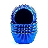 xlloest Moldes de papel para hornear (100 unidades), color azul
