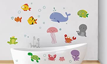 Rawpockets 'Under Water Aquarium ' Wall Sticker (PVC Vinyl, 130 cm x 85cm)