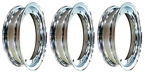 RMS - 3Llantas Cromadas RMS 3,50–10Para Vespa LML STAR 125/150/200