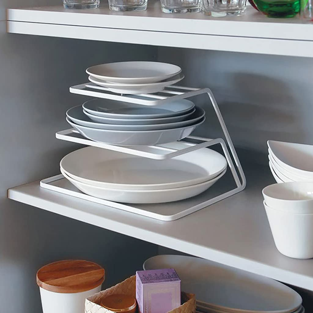 MONLEYTA 3-Tier Metal Plate Drying Tray Dish Selling and selling Topics on TV Shelf Storage Rack