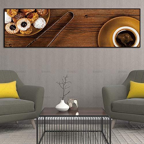 SQSHBBC wandkunst Malerei wandbild drucken Kunst Kaffee und Poster Bild Dekoration für Wohnzimmer ungerahmt Kunst leinwand gemälde A5 40 cm x 130 cm (kein Rahmen)